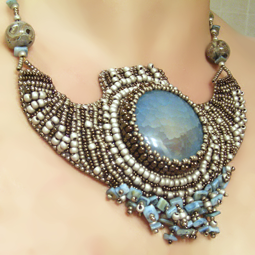 Images about bead embroidery labradorite on